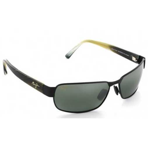 Maui Jim Matte Black Coral Sunglasses, Matte Matte Black Frames with Neutral Gray Lenses