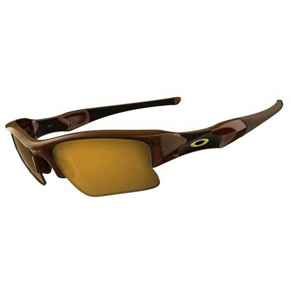 Oakley Flak Jacket XLJ Angling Specific Sunglasses, Polished Brown Frames with Bronze Polarized Lenses
