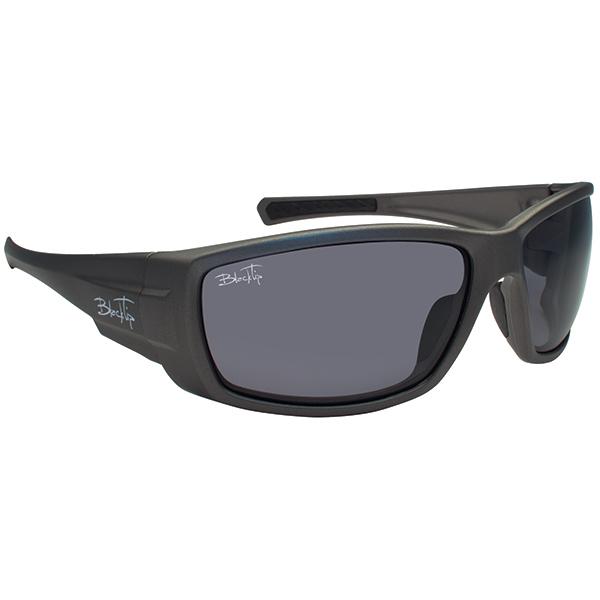 Blacktip Bullshark Sunglasses, Black/gray Frames with Gray Mirrored Lenses
