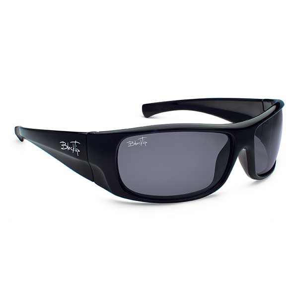 Blacktip Predator Sunglasses, Black/gray Frames with Gray Mirrored Lenses