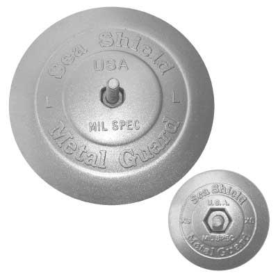 Sea Shield Marine Rudder Button Anode, 3/4 Thickness, 2 3/4 O.D., 1.140 lb.