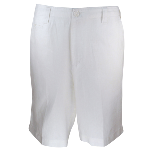 LUAU Men's Santorini Shorts, White, 34