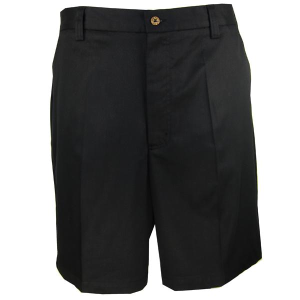 LUAU Men's Bamboo Flats Shorts, Black, 32