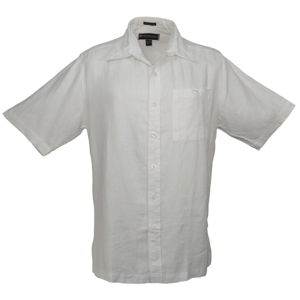 Men's Pavilion Short-Sleeve Shirt, White, M