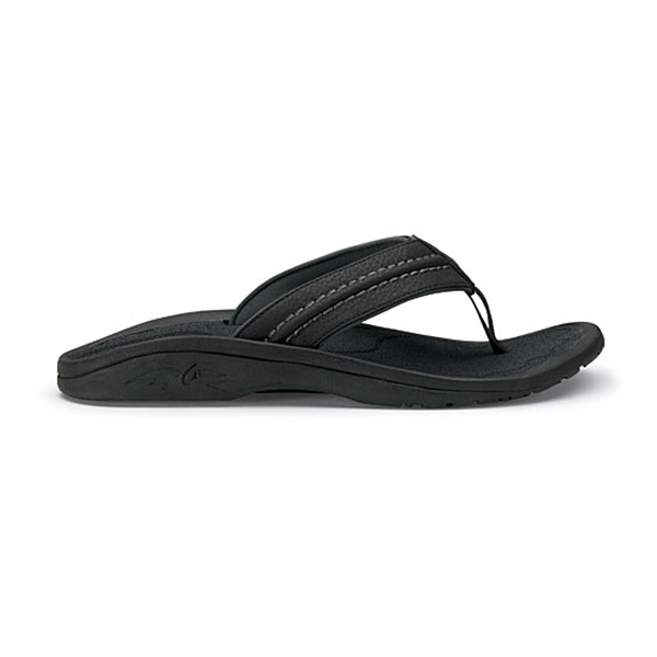 Men's Hokua Sandals, Black/Dark Shadow, 8