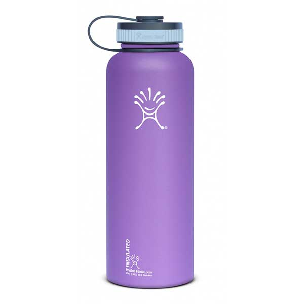 Hydro Flask Wide Mouth 40 oz. Stainless Steel Water Bottle, Purple