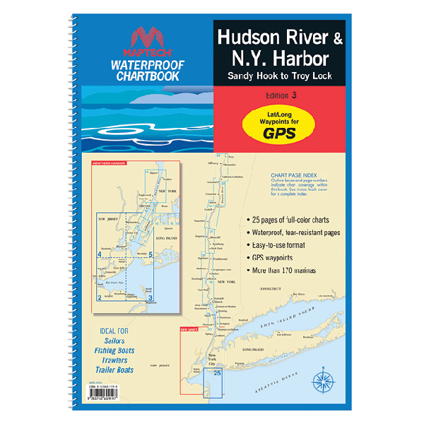Maptech Hudson River & N.Y. River 2013 Waterproof Chartbook, 3rd Edition