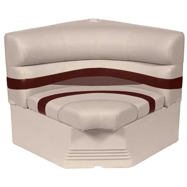 Wise Seating 32 Radius Corner Section Premium Bench Seat, Wineberry/Manatee