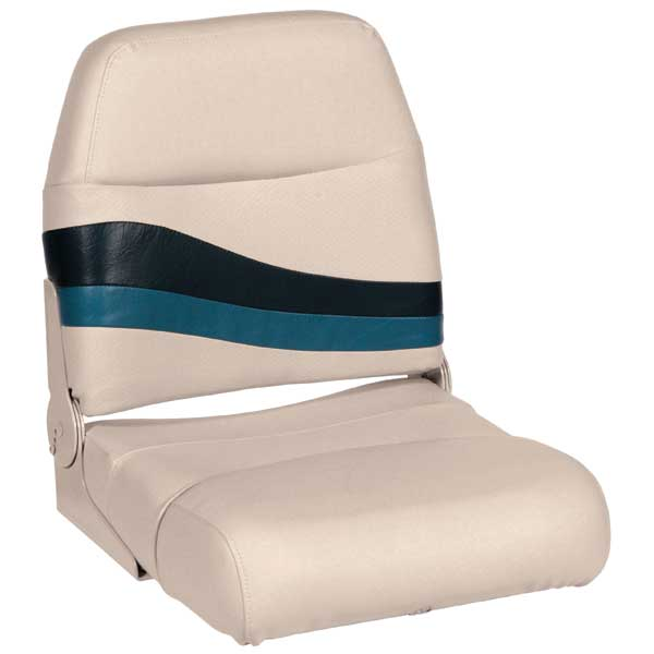 Wise Seating Premium Boat Seat, Navy/Cobalt