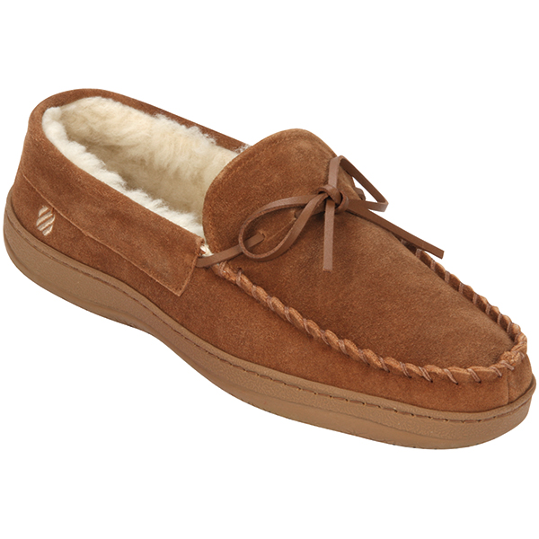 Men's Sunset Suede Slippers, Tan, 8