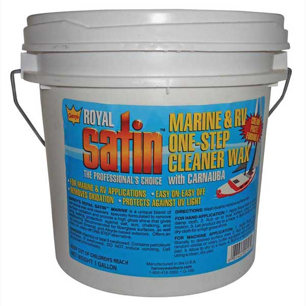 Harvey Westbury Garys Royal Satin Marine & RV One-Step Cream Paste Cleaner Wax, Gallon