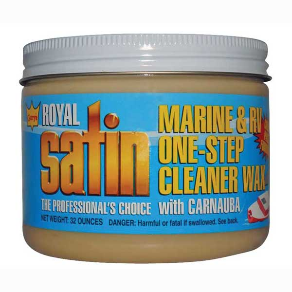 Harvey Westbury Garys Royal Satin Marine & RV One-Step Liquid Cleaner Wax, 32 oz.