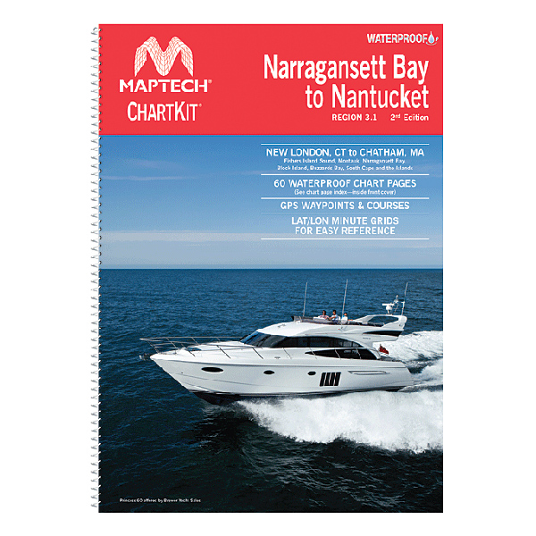 Maptech Narragansett Bay to Nantucket Waterproof Chartbook, 2nd Edition