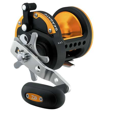 Daiwa Seagate Star Drag SGT40H Conventional Reel, M, 6.4:1 Gear Ratio, 21.3 oz.