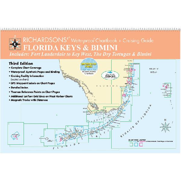 Richardson Publications Waterproof Chartbook And Cruising Guide: Florida Keys & Bimini