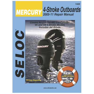 Seloc Marine Mercury 4-Stroke Outboards 2005-2011 Repair Manual