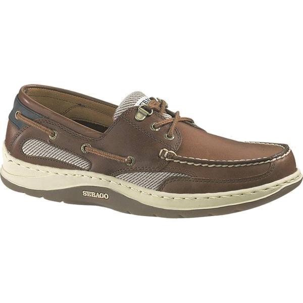 Sebago Men's Clovehitch II Boat Shoes, Amber Gold, 12M Brown/gold Sale $115.00 SKU: 13594189 ID# B24366-438 UPC# 18467074069 :