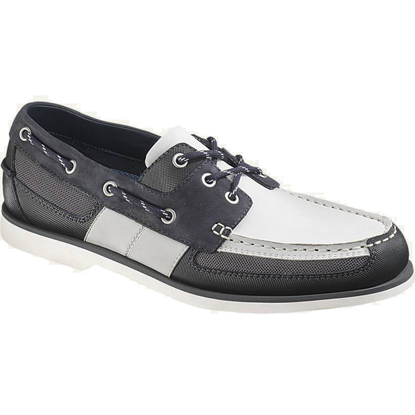 Men's Crest Vent Casual Shoes, Navy/Gray, 7M