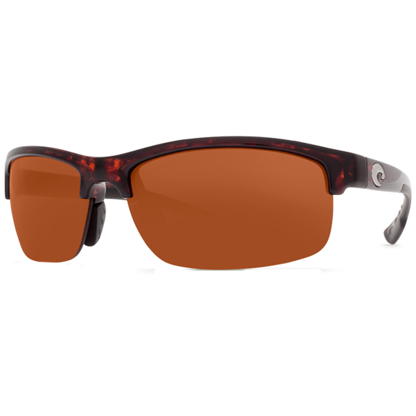 Indio Sunglasses, Tortoise Brown Frames with Costa 580 Copper Plastic Lenses