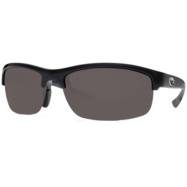 Indio Sunglasses, Black/gray Frames with Costa 580 Gray Plastic Lenses