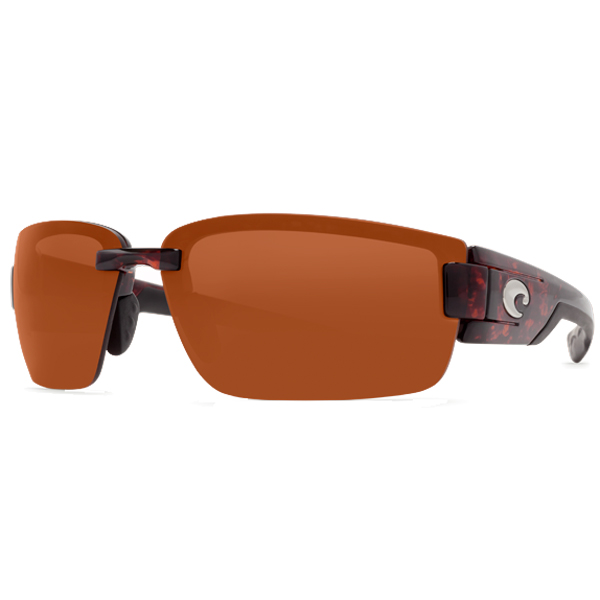 Rockport Sunglasses, Tortoise Frames with Costa 580 Copper Plastic Lenses Brown