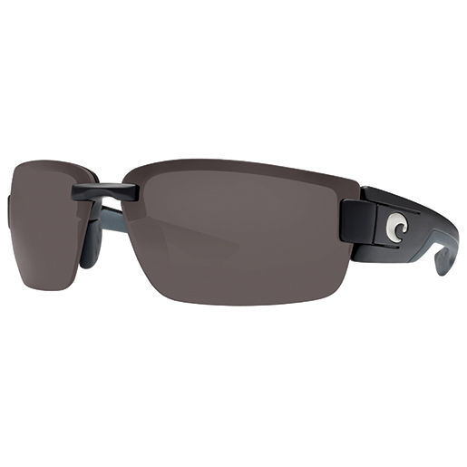 Rockport Sunglasses, Black/gray Frames with Costa 580 Gray Plastic Lenses