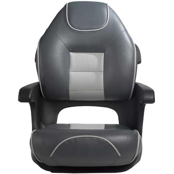 Tempress Ultimate Elite Captains Helm Seat, Charcoal/Gray