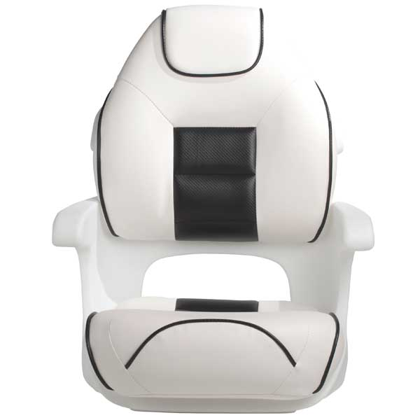 Tempress Ultimate Elite Captains Helm Seat, White/Sand