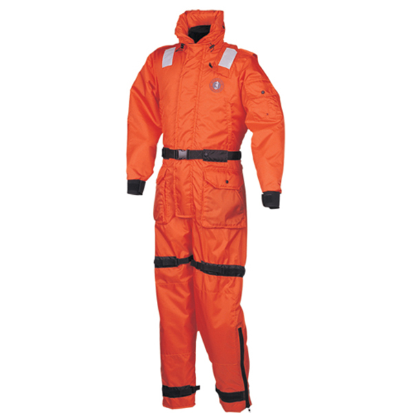 Mustang Survival Anti-Exposure Work Suit, Large, 42-46 Chest , Orange