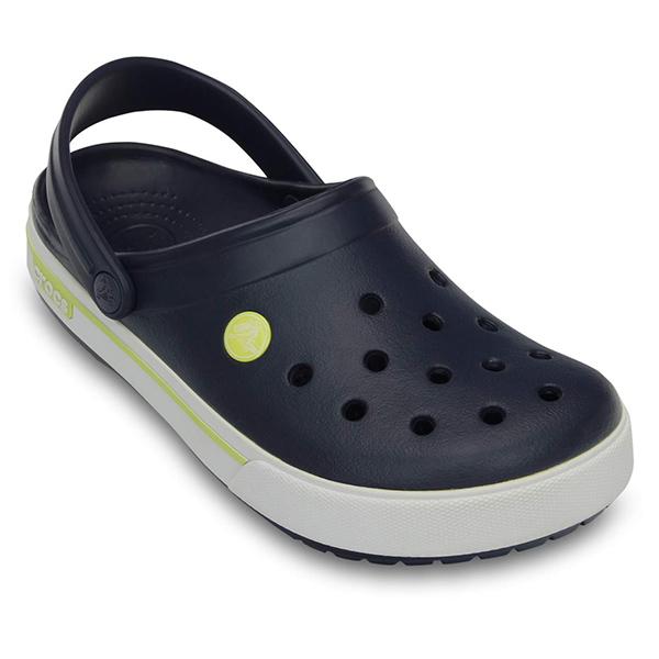 Crocs Men's Crocband II.5 Clog, Navy/green, 4