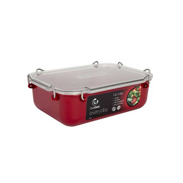Clickclack Everyday Airtight Storage Container, 1.4 qt., Red Sale $15.99 SKU: 13730817 ID# 962001 UPC# 9414969004879 :
