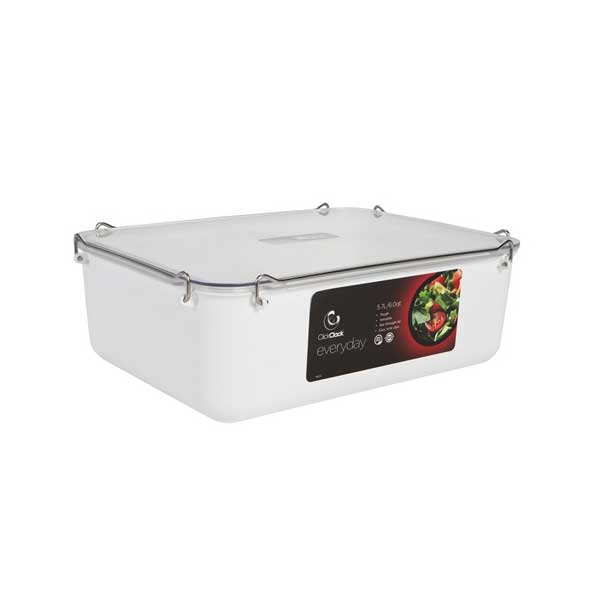 Clickclack Everyday Airtight Storage Container, 6 qt., White Sale $24.99 SKU: 13730882 ID# 963502 UPC# 9414969005036 :