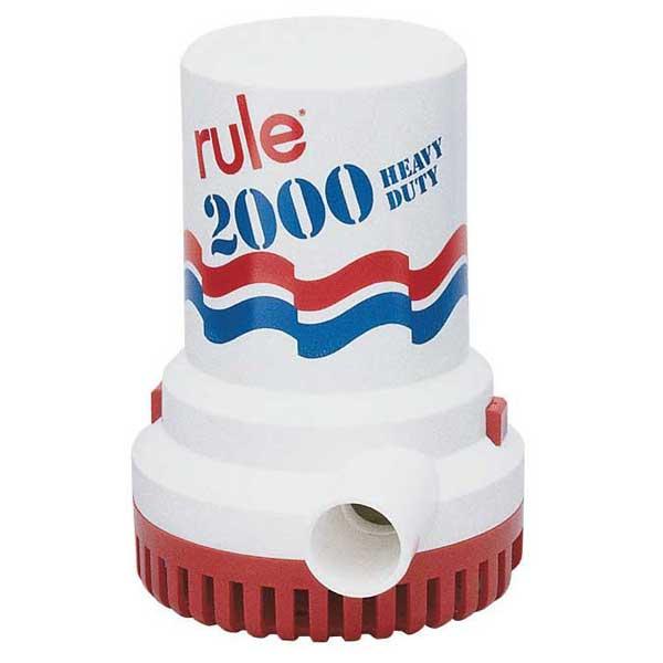 Rule Industries 2000gph UL-Listed 12V Bilge Pump, 1-1/8 Port, 8.4A Draw, 6H x 4-1/4W, 3 Yr Wty Sale $189.99 SKU: 13736509 ID# 10-6UL UPC# 42237085160 :