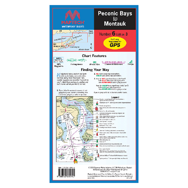 Maptech Peconic Bay to Montauk Waterproof Chart, 3rd Edition Sale $21.95 SKU: 13741327 ID# WPC006-03 UPC# 9780743610940 :