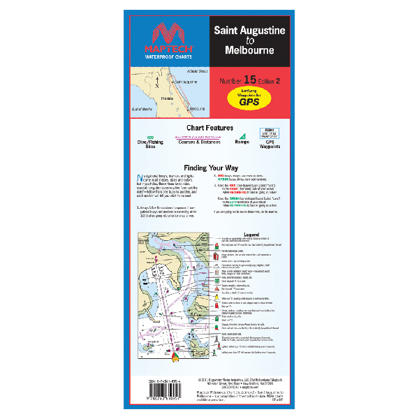 Maptech St. Augustine to Melbourne Waterproof Chart, 2nd Edition Sale $21.95 SKU: 13741335 ID# WPC015-02 UPC# 9780743610957 :