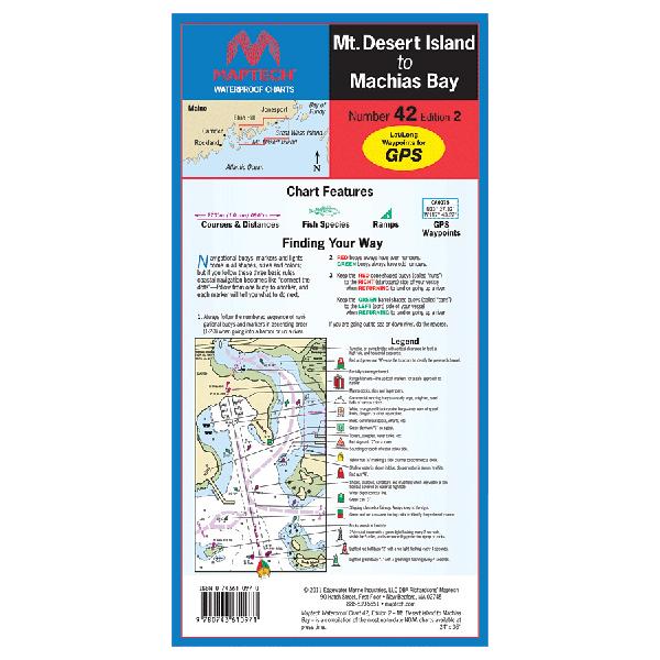 Maptech Mt. Desert Island to Machias Bay Waterproof Chart, 2nd Edition Sale $21.95 SKU: 13741350 ID# WPC042-02 UPC# 9780743610971 :