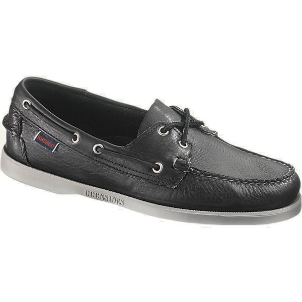 Sebago Men's Docksides Boat Shoes, Black/brown Tumbled, 10M