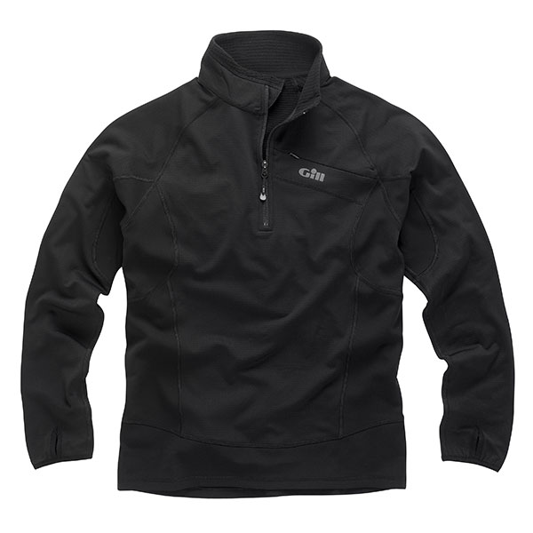 Men's Thermogrid Zip-Neck Jacket, Black, XS