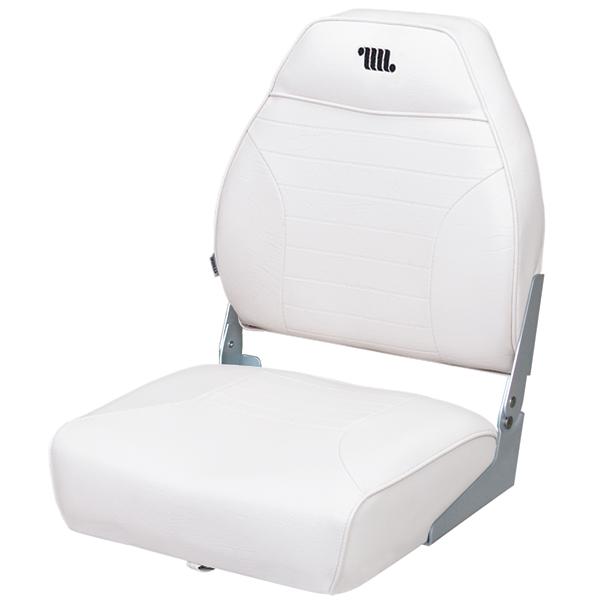Wise Seating Mid-Back Folding Fishing Boat Seat, White