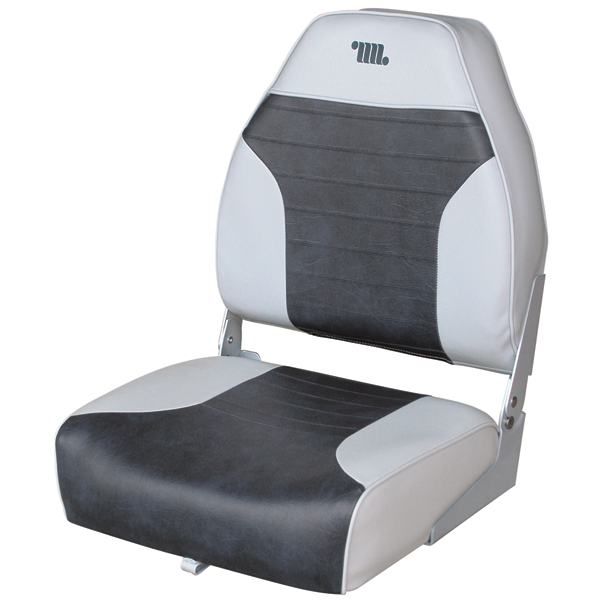 Wise Seating Mid-Back Folding Fishing Boat Seat, Gray/Charcoal