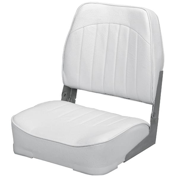 Wise Seating Promotional Low-Back Folding Fishing Boat Seat, White