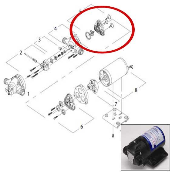 Shurflo Valve Assembly Repair Kit for the 8050Series