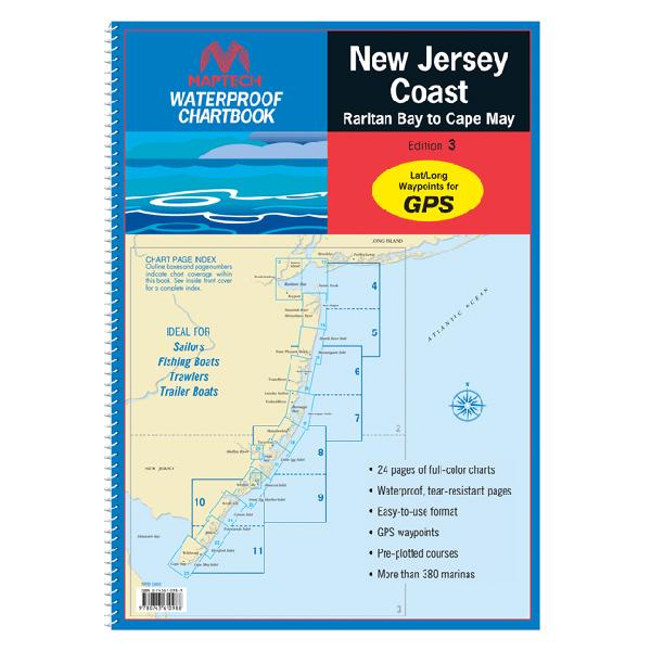 Maptech New Jersey Coast: Raritan Bay to Cape May 2013 Waterproof Chartbook, 3rd Edition Sale $54.95 SKU: 13813340 ID# WPB0360-03 UPC# 9780743610988 :