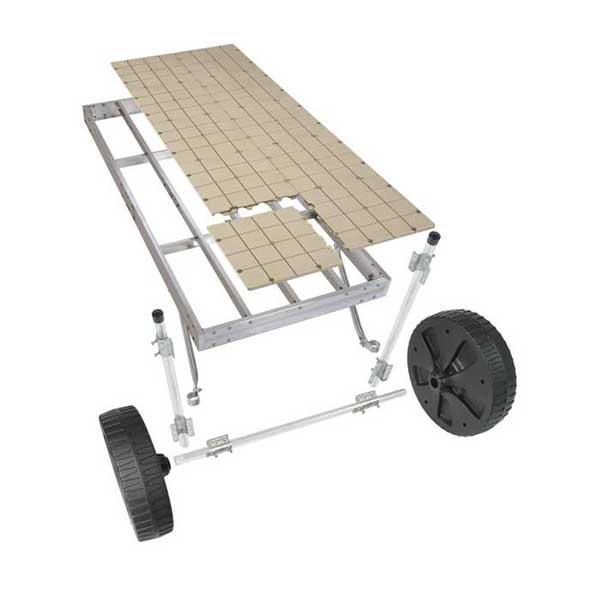 Play Star, Inc Rolling Dock Kit, 4' x 10', Aluminum, Resin Deck