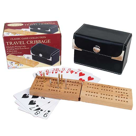 John N. Hansen Cribbage with Playing Cards Travel Set