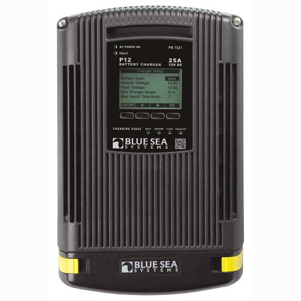 Blue Sea Systems P12 Battery Charger, 25A