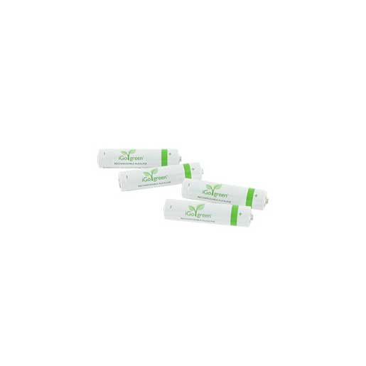 IGO 4-Pack AAA Rechargeable Alkaline Batteries