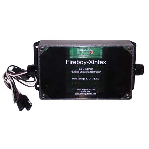 Fireboy-xintex ESC 10-Circuit Automatic Engine Shutdown System, Voltage: 12/24/32V DC; 2A Relays 10µA-2A: 4; 10A Relays 100mA-10A: 4; 30A Relays 100mA-30A: 2