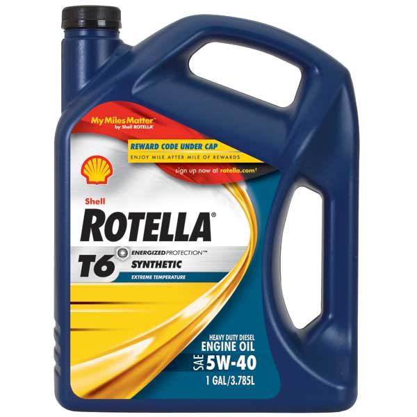 Shell Rotella T6 Synthetic Engine Oil, Gal.