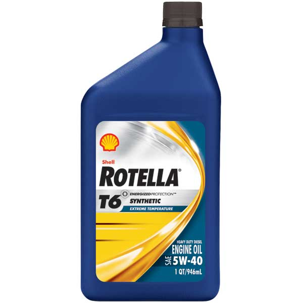 Shell Rotella T6 Synthetic Engine Oil, Quart